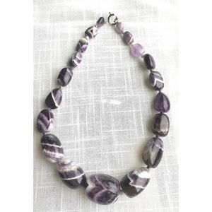 NWT Rock amethyst necklace